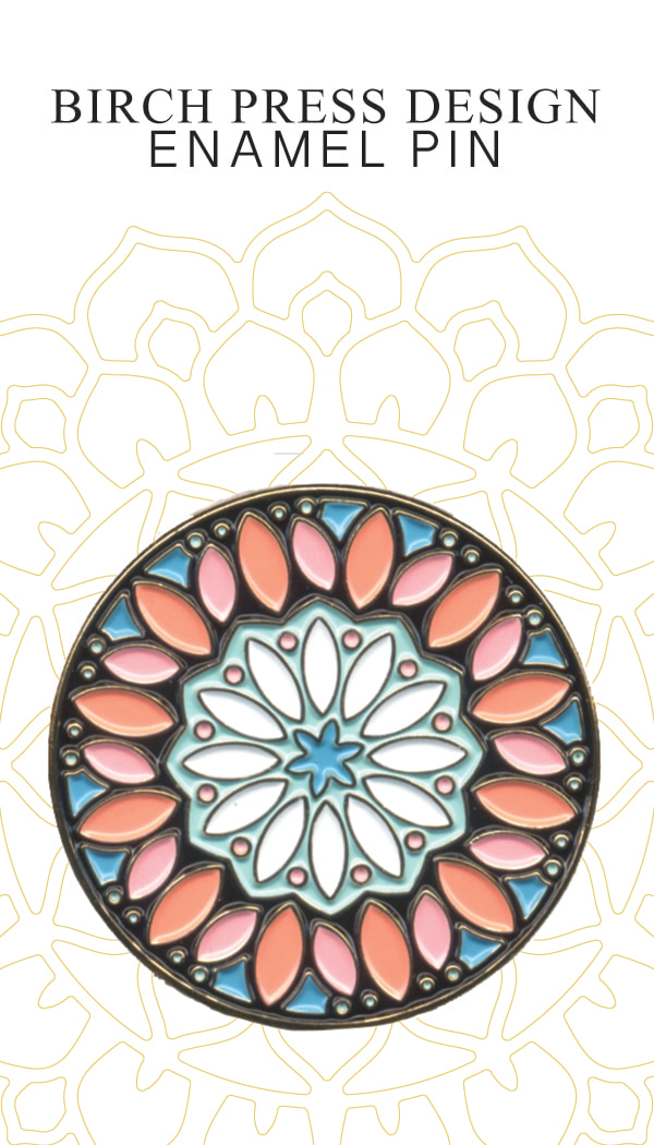 Kaleidoscope Circle Enamel Pin