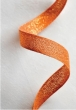 Tangerine Metallic Ribbon   2 yds