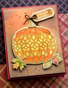 Pumpkin Lacework clear stamp set