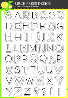 Mod Alphabet clear stamp set
