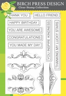 Awesome Ticker Tape Messages clear stamp set