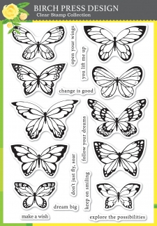 Lovely Butterflies clear stamp set