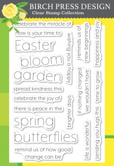 Blooming Spring clear stamp set