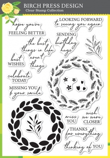 Classic Sentimental Wreath stamp set