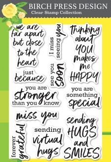 Brush Sentiments clear stamp set