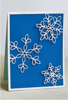 Shimmer Snowflake Frame Layer A