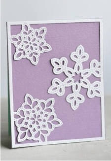 Shimmer Snowflake Frame Layer C