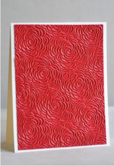 Cabbage Rose Red Handmade-1 sheet