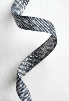 Black Metallic Ribbon  2 yds