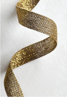Gold Metallic Ribbon 2 yds