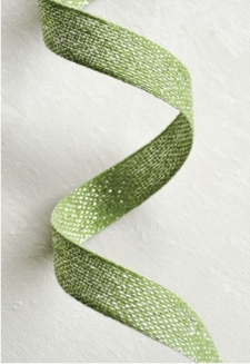 Olive Metallic Ribbon 2 yds