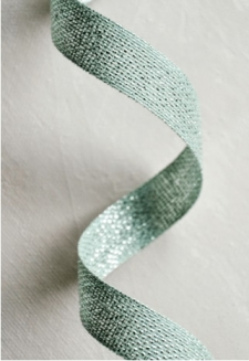 Sage Metallic Ribbon 2 yds