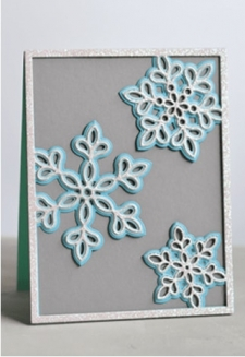 Shimmer Snowflake Frame Layer Set