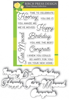 Hooray for Everything clear Stamp and die set