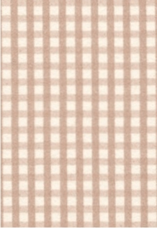 Latte Gingham-5 sheets