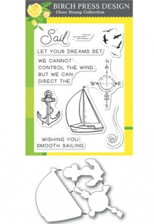 Let Your Dreams Sail clear stamp set and die set