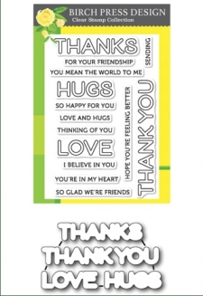 Lingo Thanks clear stamp set and die set