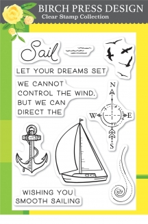 Let Your Dreams Sail clear stamp set
