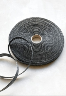 Black Metallic Ribbon - 54 yds