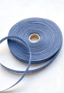 Denim Metallic Ribbon - 54 yds