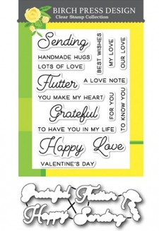 Sending Love clear stamp and die set