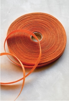 Tangerine Metallic Ribbon - 54 yds
