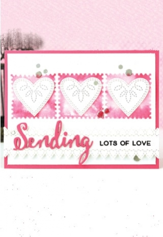 Sending Love clear stamp set