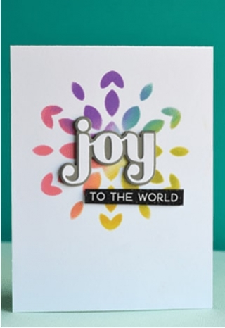 Joy and Peace clear stamp set