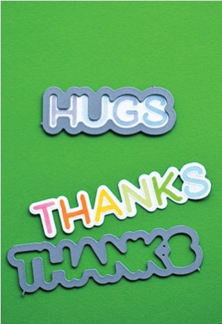 Lingo Thanks clear stamp set