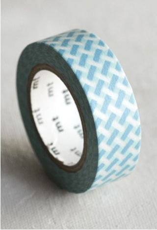 Basketweave Blue Tape