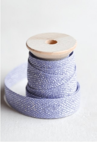 Lavender Metallic Ribbon 2 yds